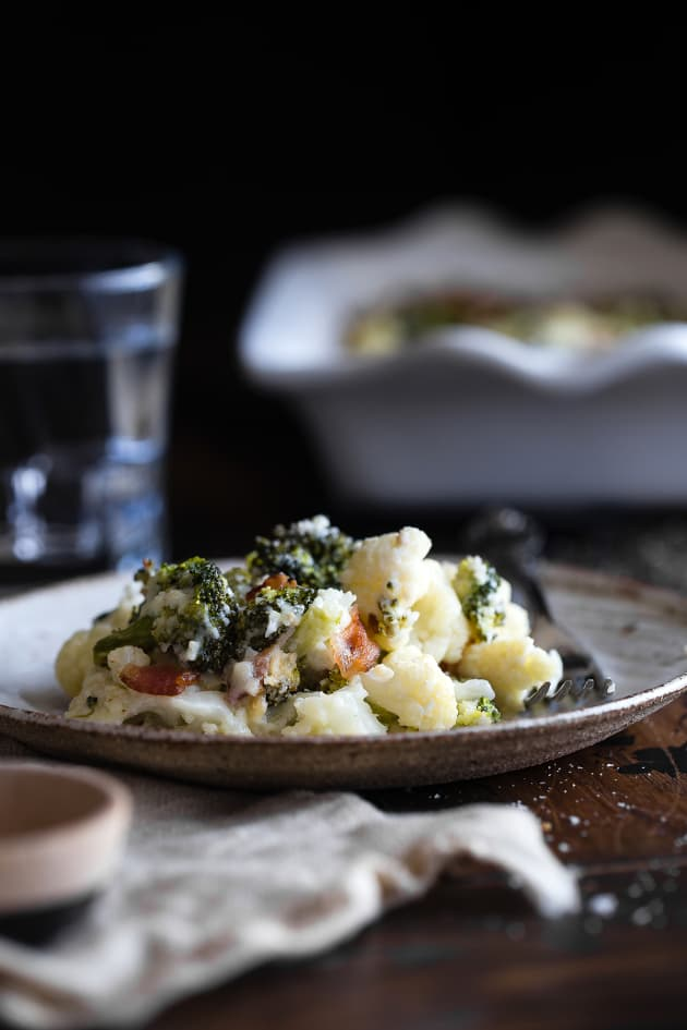 Loaded Broccoli Cauliflower Cheese Casserole Image