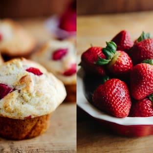 Strawberry banana muffins photo