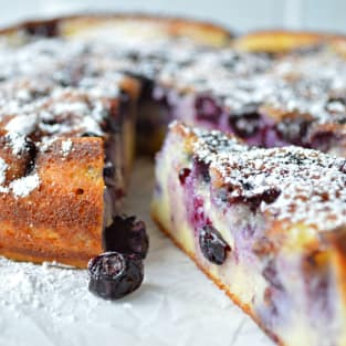 Blueberry breakfast cake photo