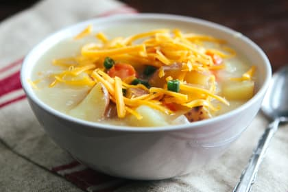 Cheddar Potato Soup: Double the Comfort