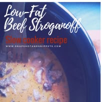 Tasty but Low-Calorie Slow-cooker Beef Stroganoff