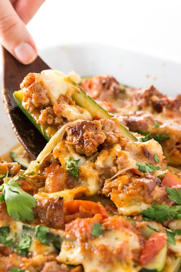 Italian Sausage Stuffed Zucchini Boats Picture