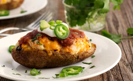 Southwestern Twice Baked Potatoes Recipe