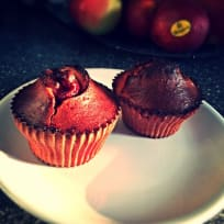 Cherry-Banana muffins