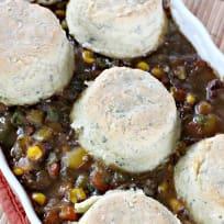 Beef Pot Pie With Herbed Biscuits