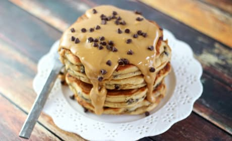 Peanut Butter Chocolate Chip Pancakes Recipe
