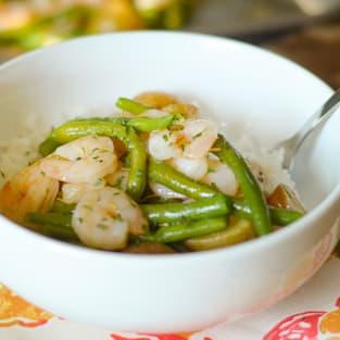 Garlic rosemary shrimp sheet pan dinner photo