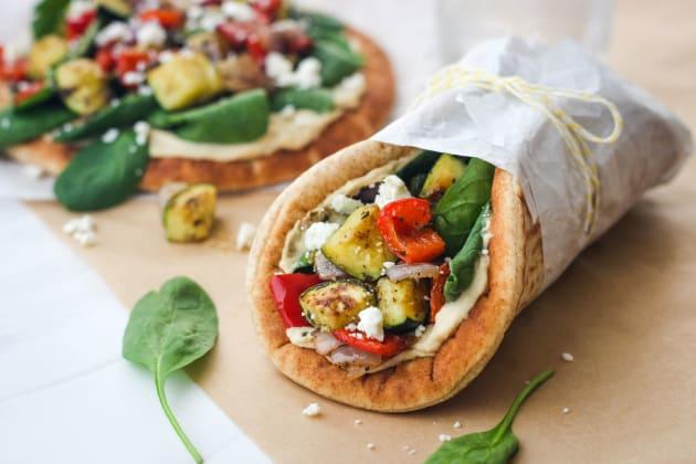 Zucchini and Hummus Pita Sandwiches Photo