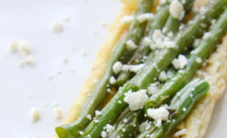 Grilled Green Bean and Onion Tarts Pic