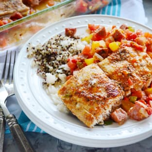 Baked cajun mahi mahi dinner photo