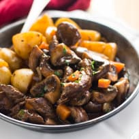 Skillet Beef Tips and Gravy Recipe