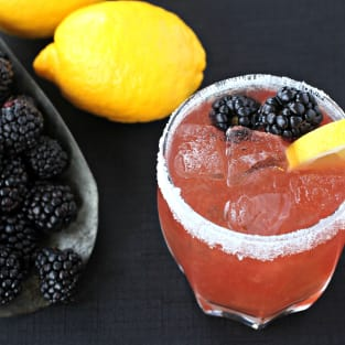 Blackberry whiskey sour photo