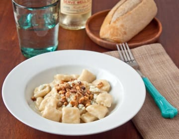 Ricotta Gnocchi with Bleu Cheese and Walnuts: Decadent Dinner for Two