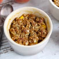 Peach Amaretto Crumbles Recipe