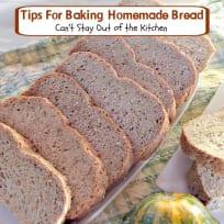 Tips for Baking Homemade Bread