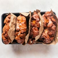 Peach Fritters with Maple Glaze Recipe