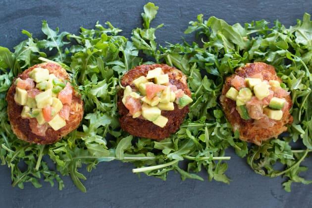 Crispy Crab Cakes with Avocado Grapefruit Salsa Image
