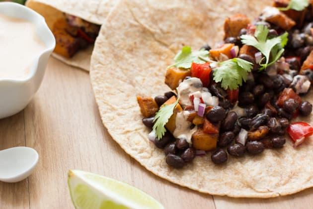 Sweet Potato and Black Bean Tacos Photo