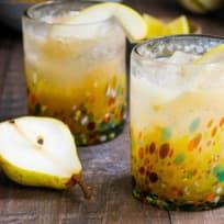 Vanilla Pear Gin Fizz Recipe