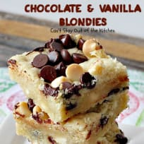 Chocolate and Vanilla Blondies