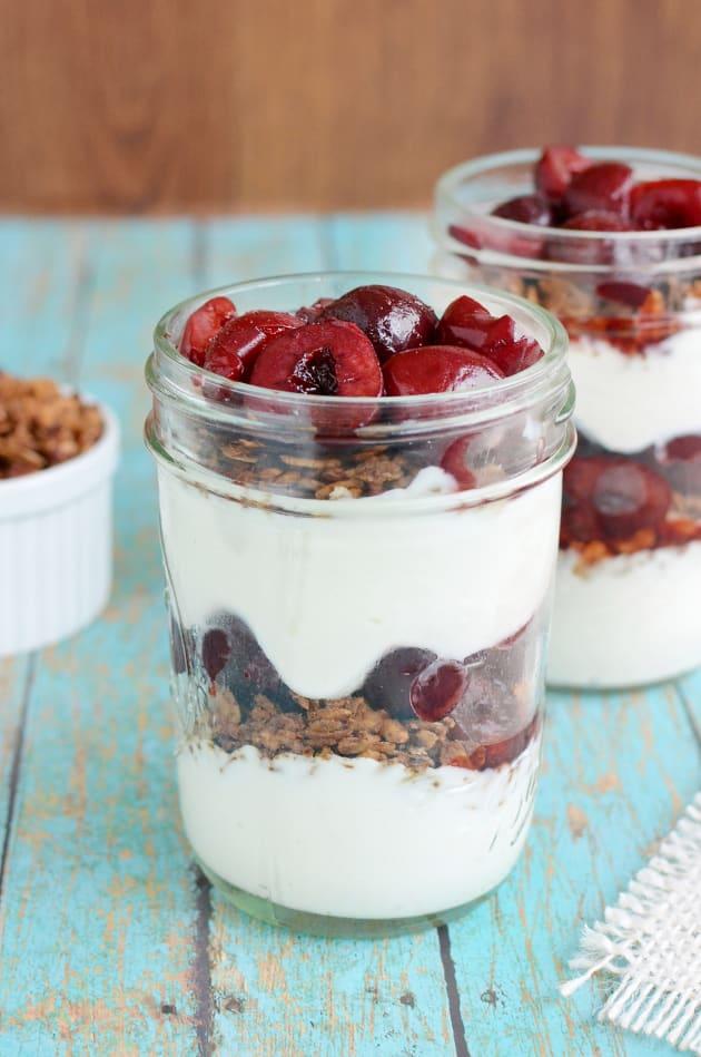 Cherry Greek Yogurt Parfaits Picture