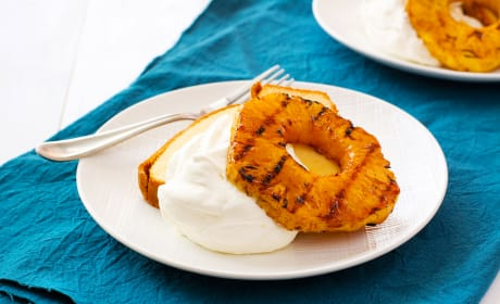 Grilled Pineapple with Mascarpone Whipped Cream Image