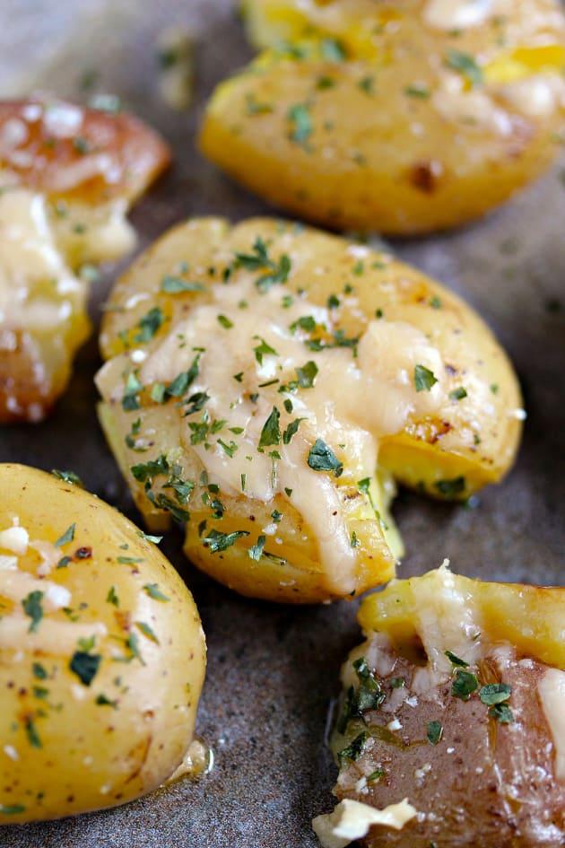 Parmesan Smashed Potatoes Picture