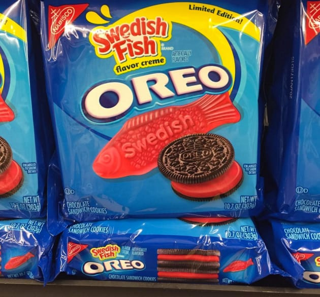 Swedish fish oreos wait these really exist food for Swedish fish oreos where to buy