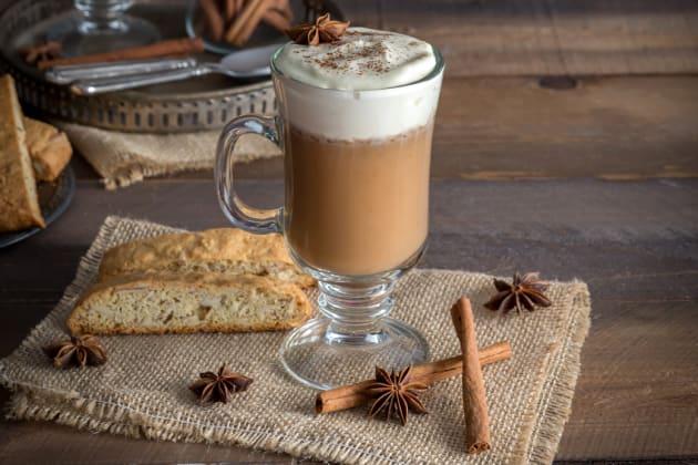 Boozy Pumpkin Chai Latte Photo