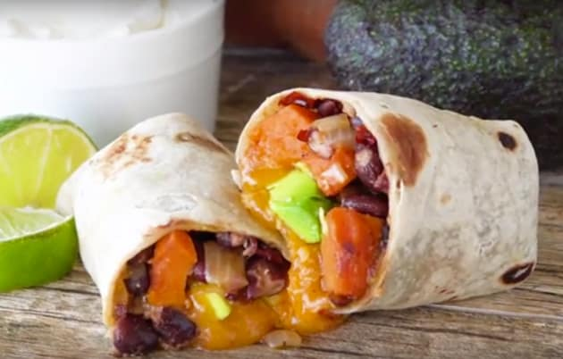Chipotle Sweet Potato Burritos