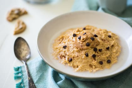Vegan Peanut Butter Chocolate Chip Cookie Dough Breakfast Bowl