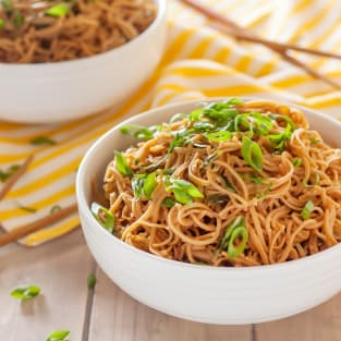Gluten free sticky garlic noodles photo