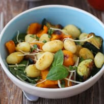 One Pan Roasted Gnocchi and Vegetables Recipe