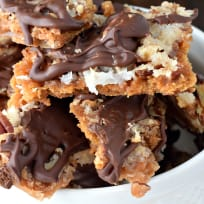 Chocolate Coconut Cracker Toffee Recipe