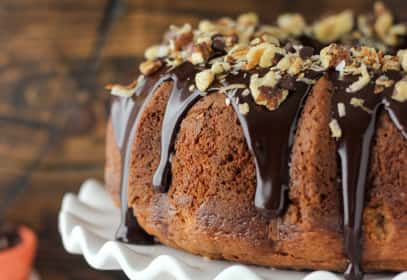 Pumpkin Seven Layer Bundt Cake