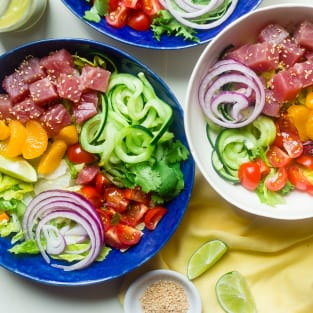 Tuna ceviche bowls photo