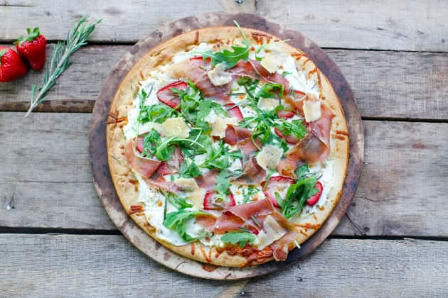 Prosciutto Pizza with Strawberries Photo