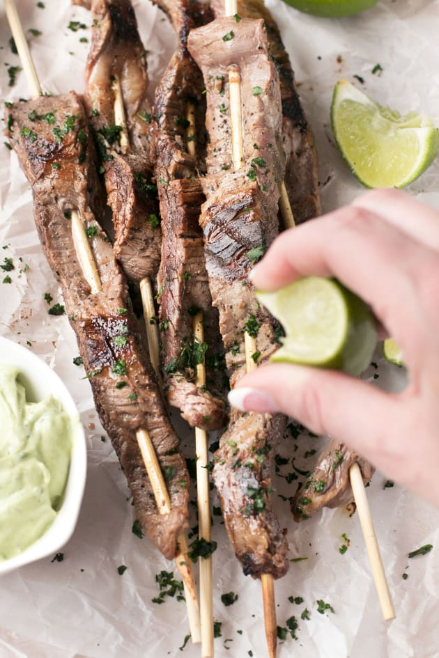 Cilantro Lime Grilled Beef Skewers Pic