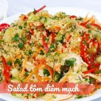 Salad diêm mạch với tôm