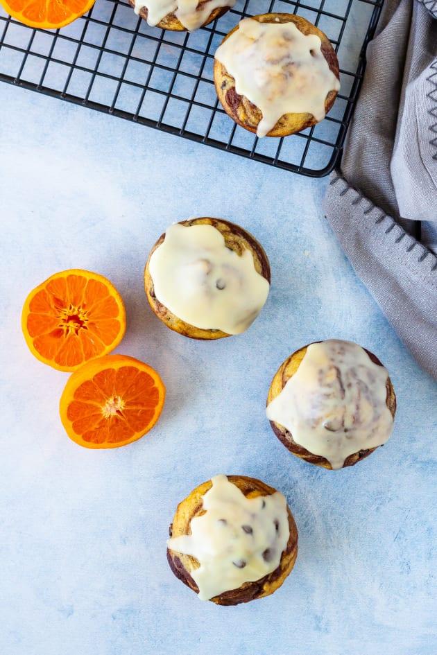 Glazed Chocolate Orange Muffins Image