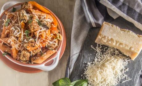 Eggplant Parmesan Bite Pasta Bowls Picture