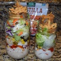 Salad in a Jar, Southwest Chicken Salad