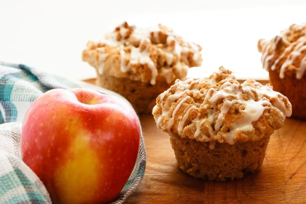 Apple Muffins with Crumb Topping Image