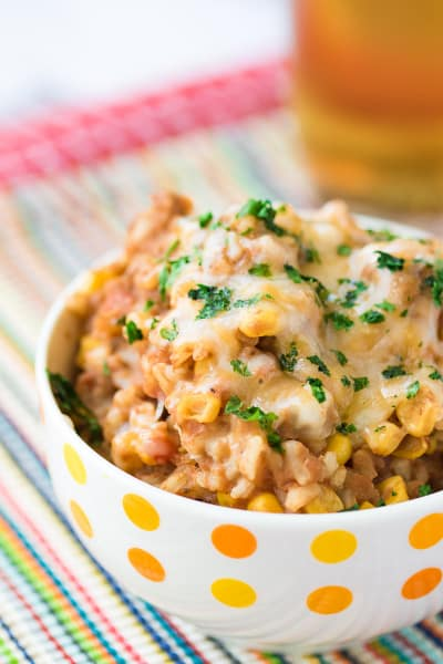 Refried Beans and Rice Skillet Image