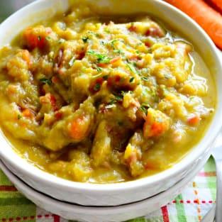 Instant pot split pea soup photo