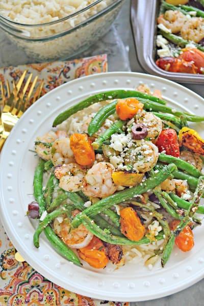 Sheet Pan Greek Shrimp Dinner Image