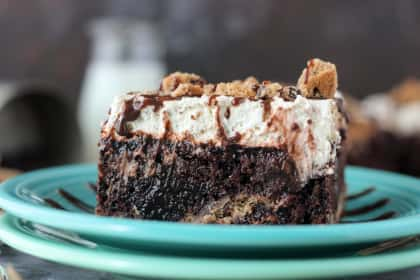 Chocolate Chip Cookie Poke Cake