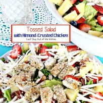 Tossed Salad with Almond-Crusted Chicken