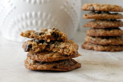 Oatmeal Coconut Chocolate Chip Cookies: Toasty Cookie Nirvana