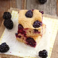 Lemon Blackberry Baked Pancake Recipe